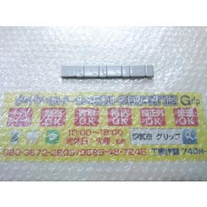 5個 未使用品バラ売り 薄型 貼り付け 貼付け シルバー 銀 ウエイト バランスウエイト 黒テープ 60g 4mm 140mm |gripiga