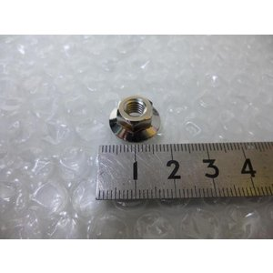 未使用 1個 M6 10×16 フランジナット ツバ付  3ピース用  SSR 鉄 ニッケル ピアスボルトナット アルミホイール用|gripiga