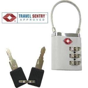 [送料299円〜]TSA twin lock ツインロック 3桁 ワイヤーロック 鍵 TSAロック ...