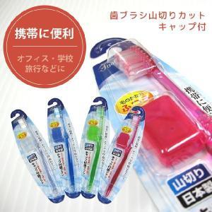 [送料299円〜]「tc10」キャップ付歯ブラシ山切りカット(ふつう)日本製 41-209 色選択不可 6点迄メール便OK(se0a089)|griptone