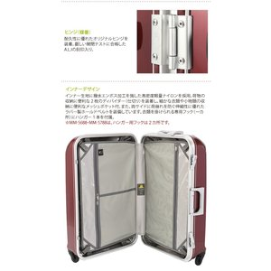 A.L.I.(エーエルアイ)最軽量デカかる2 46cm MM-5188 TSAロック搭載 4輪スーツケース フレーム 機内持ち込み(aj0a057)[C] griptone 09