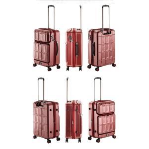 PANTHEON(パンテオン)58.5cm PTS-6006 2in1ファスナーTSAロック搭載 4輪スーツケース ジッパー 拡張機能付き ダブルキャスター(aj0a084)[C]|griptone|08