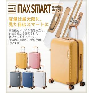 MAXSMART(マックススマート)59cm MS-202-25 TSAロック搭載 8輪(4輪ダブルキャスター)スーツケース ジッパー(aj0a090)[C]|griptone|02