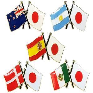 [送料299円〜]「tc」日本と各国の友好旗ピンズ D-823〜827 40点までメール便OK(da1a039)|griptone