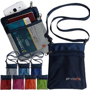 [送料299円〜]「tc4」メッシュポケットGPTパスポートポーチ ビビッドカラー ネックストラップ付き アウトレット 4点迄メール便OK(gu1a192)|griptone