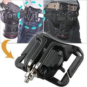 ベルトに装着 GPTカメラホルスター(カメラホルダー/デジカメホルダー) 黒 アウトレット(gu1a228)|griptone