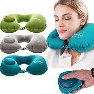 【アイマスク・耳栓・巾着のオマケ付き】GPT手動で膨らむネックピロー アウトレット(gu1a448) griptone