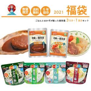 保存食 福袋 最大5年保存 10食 セット 【 3食 × 3日分 +1食 】 おかず10点 ご飯 4...