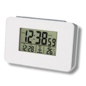 アデッソ 目覚まし時計 電波時計 置き時計 デジタル コンパクト 温度表示 保証付 ADESSO SN-01(hi0a194)|griptone
