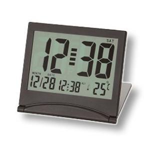 [送料299円〜]アデッソ 大画面スリムクロック 目覚まし時計 置時計 デジタル 温度表示 保証付 ADESSO KH-01 6点迄メール便OK(hi0a195)|griptone