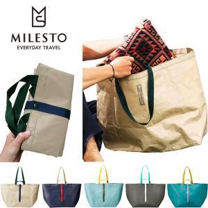「tc1」milesto(ミレスト)PEシリーズ トートバッグLサイズ MLS517 折り畳み式大容量エコバッグ(id0a215)