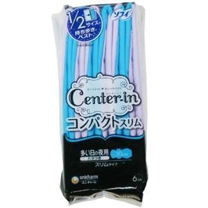 日本製 センターインコンパクトスリム 多い夜用6P 30cm 524019(je1a467)|griptone