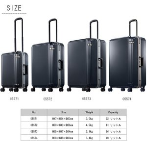 ace.(エース) Palisades-F(パリセイド-エフ) 47cm 05571 TSAダイヤルロック搭載 4輪スーツケース フレーム 機内持ち込み(je2a222)[C]|griptone|05