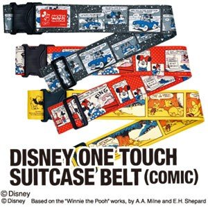ディズニーのコミック柄でポップなスーツケースベルト! *旅行用品/旅行便利グッズ/海外旅行グッズ/プ...