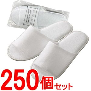 【セット】ホテルアメニティ スムース地スリッパ ホワイト PX-3(白) 【250個単位】 36010210-250(ma0a084)|griptone