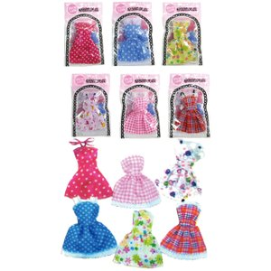 【まとめ買い=12個単位】着せ替えドレス 28cm人形用 アソート(柄おまかせ) LI-9810(su3a485)|griptone