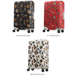 T&S レジェンドウォーカー スーツケースカバー Lサイズ 9101-L 便利なベルトと収納ポケット付き(ti0a233)|griptone|05