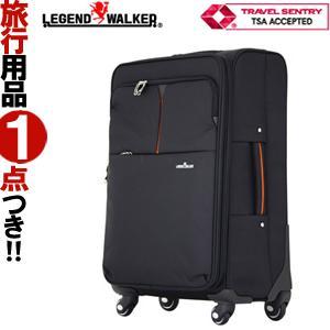 スーツケース LLサイズ ソフトキャリーケース フロントオープン T&S レジェンドウォーカー TSAロック 拡張機能 海外旅行 4031-71 (ti0a245)「c」 griptone