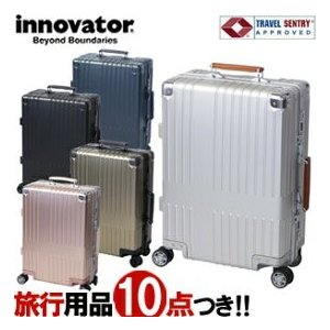 TRIO(トリオ) innovator(イノベーター) 64cm INV-2517 アルミキャリー Lサイズ TSAロック搭載 4輪スーツケース 2年保証 フレーム(to4a091)[C]|griptone