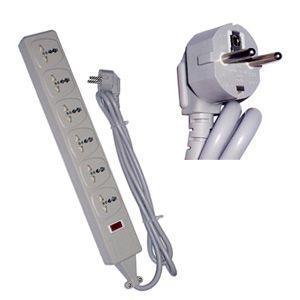 高電圧対応6口電源タップ Wonpro 海外旅行用テーブルタップ [SE/2500Wタイプ] WES4-D109(to1a027)【国内不可】|griptone