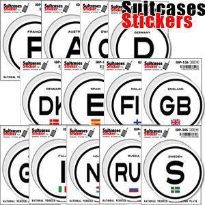 [送料299円〜]「tc150」「pa」Suitcases Sticker(スーツケースステッカー) 国際識別記号ステッカー ヨーロッパ IDP 100点迄メール便OK(ze0a009)|griptone