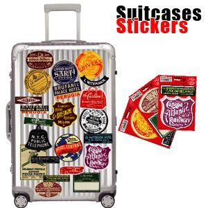 [送料299円〜]Suitcases Sticker(スーツケースステッカー) Vintage Voyage(ヴィンテージボヤージュ) vv 100点迄メール便OK(ze0a013)|griptone