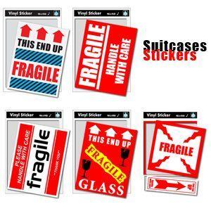 [送料299円〜]Suitcases Sticker(スーツケースステッカー)FRAGILE(フラジール)荷造りステッカー大 SK(ze0a014)一部色選択不可 100点迄メール便OK|griptone