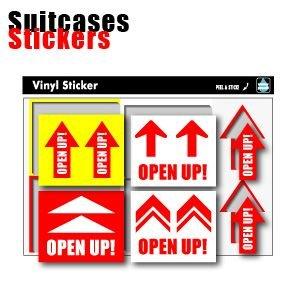 [送料299円〜]Suitcases Sticker(スーツケースステッカー) ARROW(アロー) ミニ矢印ステッカー6枚セット SK-169 100点迄メール便OK(ze0a019)|griptone