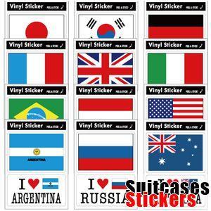 [送料299円〜]Suitcases Sticker(スーツケースステッカー) アイラブ・国旗ステッカー 2枚セット FIL 100点迄メール便OK(ze0a021)|griptone