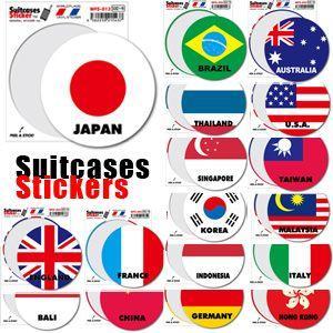 [送料299円〜]「tc150」「pa」Suitcases Sticker(スーツケースステッカー) ワールドフラッグ国旗ステッカー(サークル) WFS 100点迄メール便OK(ze0a022) griptone