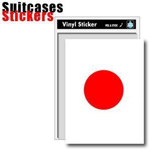 [送料299円〜]Suitcases Sticker(スーツケースステッカー) 日の丸ステッカー01(日本国旗) SK-154 100点迄メール便OK(ze0a023)|griptone