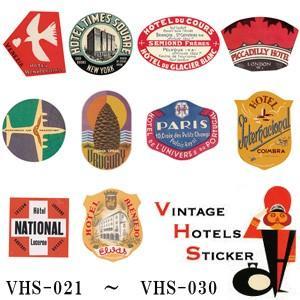 [送料299円〜]VINTAGE HOTELS STICKER ヴィンテージホテルステッカー VHS-021-030 100点迄メール便OK(ze0a034)|griptone
