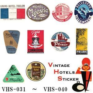 [送料299円〜]「tc150」「pa」VINTAGE HOTELS STICKER ヴィンテージホテルステッカー VHS-031-040 100点迄メール便OK(ze0a035)|griptone