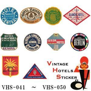 [送料299円〜]VINTAGE HOTELS STICKER ヴィンテージホテルステッカー VHS-041-050 100点迄メール便OK(ze0a036)|griptone