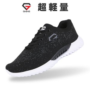 GronG(グロング) スニーカー ブラック 23cm〜27.5cm メンズ レディース 靴 シューズ ランニングシューズ トレーニングシューズ