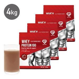 GronG(グロング) プロテイン 4kg 国産 ホエイプロテイン 100 ココア風味 WPC おきかえダイエット 筋トレ|grong
