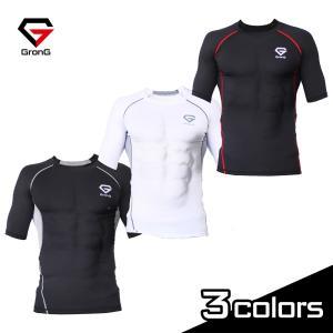 GronG(グロング) コンプレッションウェア アンダーシャツ スポーツシャツ メンズ 半袖