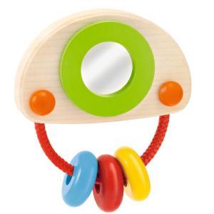 セレクタ社 木のおもちゃ Selecta 知育玩具 ドイツ製  おでかけトイ ポネロ クリップ式 ベビー用 カラフル|grooveplan