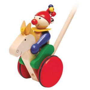 ドイツ製 木のおもちゃ セレクタ社 Selecta 知育玩具 手押し・ギャロップ 手押し車 馬|grooveplan