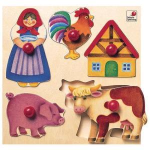 ドイツ製 木のおもちゃ セレクタ社 Selecta 知育玩具 グライフパズル・農場 はめこみ|grooveplan