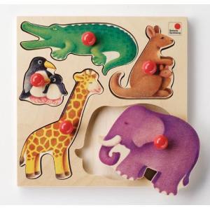 ドイツ製 木のおもちゃ セレクタ社 Selecta 知育玩具 グライフパズル・動物 はめこみ