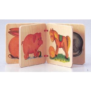 ドイツ製 木のおもちゃ セレクタ社 Selecta 知育玩具 セレクタアルバム・ペット 8種類の動物 絵本|grooveplan