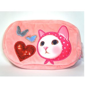 jetoy ジェトイ choochoo本舗 猫雑貨 猫のふわふわリバーシブルポーチ 赤ずきんネコ ピンクずきんねこ ペンケース 小物入れ|grooveplan