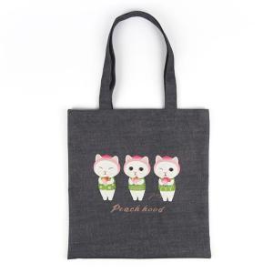 jetoy ジェトイ choochoo本舗 猫雑貨  猫のポリコットントートバッグ ピーチ かわいいねこ エコバッグ|grooveplan