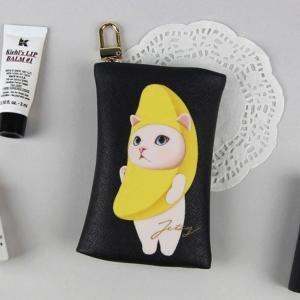 jetoy ジェトイ choochoo本舗 猫雑貨 チューチュー本舗 猫のカードケースチャーム バナナネコ かわいいねこ|grooveplan