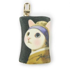 jetoy ジェトイ choochoo本舗 猫雑貨 チューチュー本舗 猫のフェルトコインケースチャーム ターバン かわいい 白ねこ|grooveplan