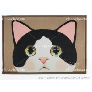 jetoy ジェトイ choochoo本舗 チューチュー本舗 猫雑貨 猫の玄関マット 白黒ネコ はちわれねこ バスマット インテリアマット|grooveplan