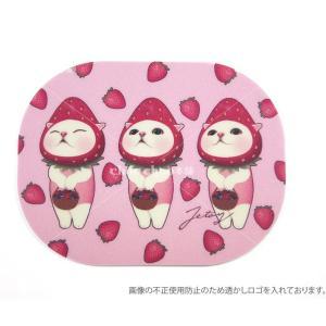 jetoy ジェトイ choochoo本舗 チューチュー本舗 猫雑貨 かわいいイチゴ猫のマウスパッド いちごネコ|grooveplan