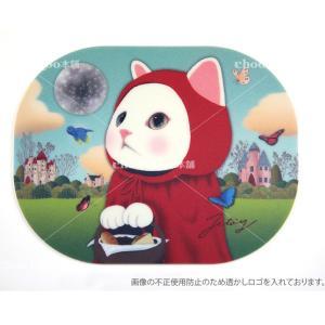 jetoy ジェトイ choochoo本舗 チューチュー本舗 猫雑貨 かわいい赤ずきん猫のマウスパッド ネコ|grooveplan
