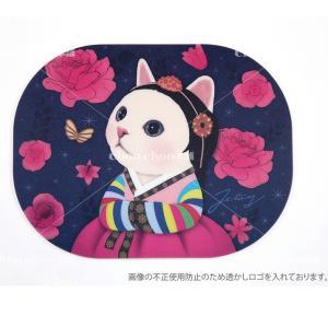 jetoy ジェトイ choochoo本舗 チューチュー本舗 猫雑貨 かわいいウォリ猫のマウスパッド 韓服ネコ|grooveplan